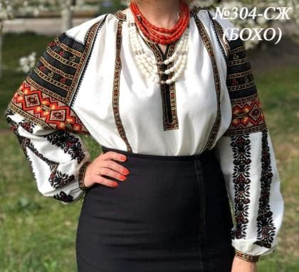 Заготовка блузки СЖ-304 Бохо Україночка