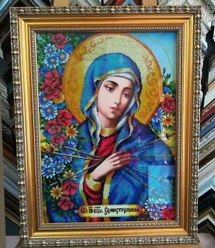 За мотивами ікони О.Охапкіна «Образ Божої матері Семистрільна»