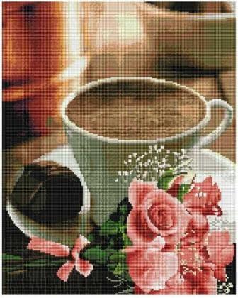 Ранкова кава SP064 Алмазна мозаїка IF