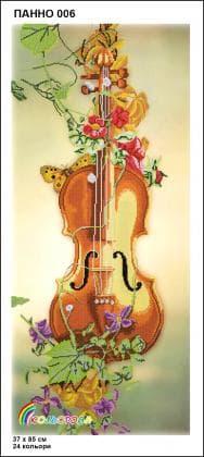 Скрипка Панно-006 Кольорова