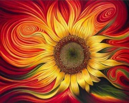 Яскравий соняшник DM-011 Алмазна мозаїка