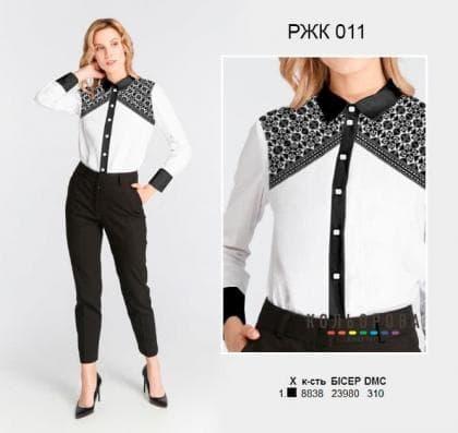 Рубашка жіноча комбінована РЖК-011 Кольорова