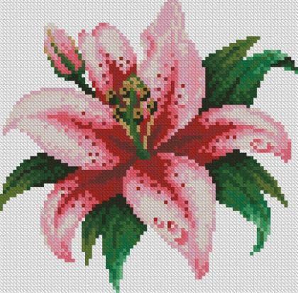 Рожева лілія DM-015 Алмазна мозаїка