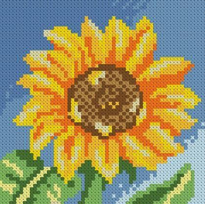 Маленький соняшник DM-016 Алмазна мозаїка