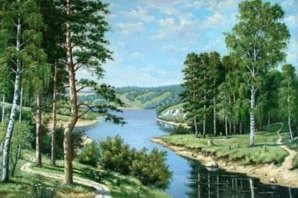 Лісова річка DM-020 Алмазна мозаїка
