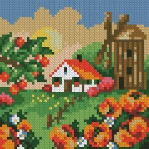 Літній пейзаж DM-024 Алмазна мозаїка