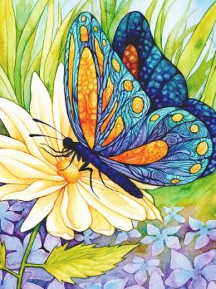 Метелик на квітці DM-035 Алмазна мозаїка