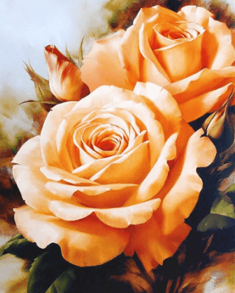 Букет чайних троянд DM-037 Алмазна мозаїка