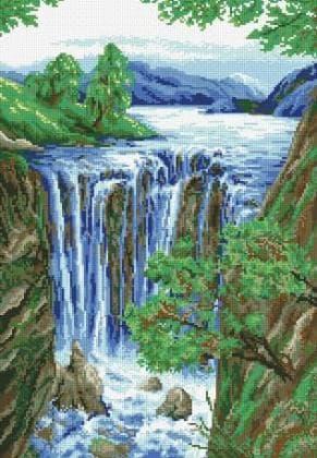 Водоспад DM-045 Алмазна мозаїка