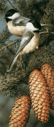 Синички на гілці DM-054 Алмазна мозаїка