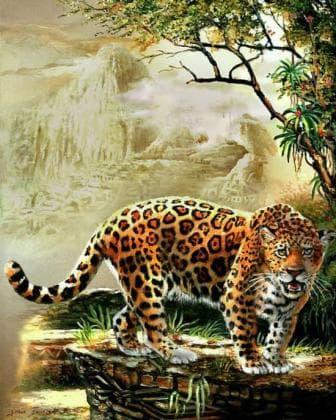 Леопард DM-063 Алмазна мозаїка