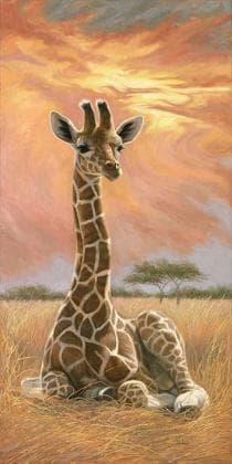 Жирафа на заході сонця DM-064 Алмазна мозаїка