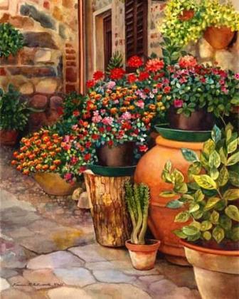 Квіти в горщиках DM-079 Алмазна мозаїка