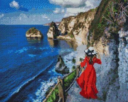 Прогулянка біля моря  SP087 Алмазна мозаїка IF