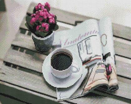 Ранкова кава SP089 Алмазна мозаїка IF