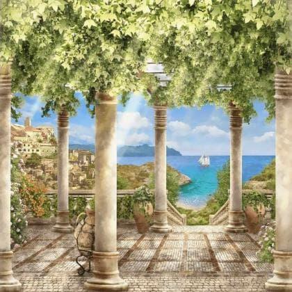 Грецький острів DM-090 Алмазна мозаїка
