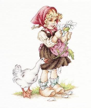 Дівчинка з гусаком В1047 Luca S