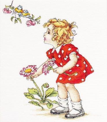 Дівчинка в червоній сукні В1050 Luca S