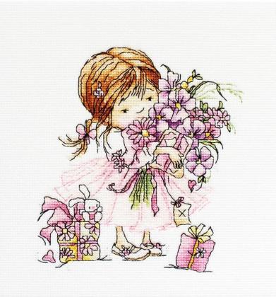 Дівчинка з букетом В1055 Luca S