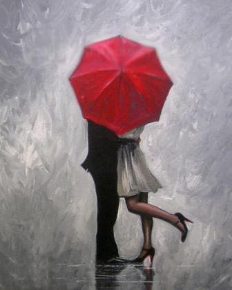 Закохані під дощем DM-106 Алмазна мозаїка