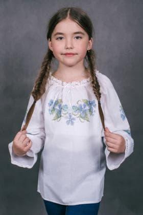Пошита блузочка для дівчинки ШВД-010 Княгиня Ольга