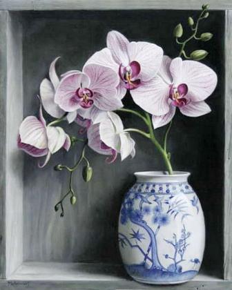 Орхідеї у вазі DM-112 Алмазна мозаїка
