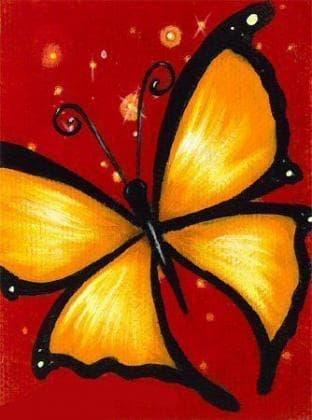 Жовтий метелик DM-116 Алмазна мозаїка