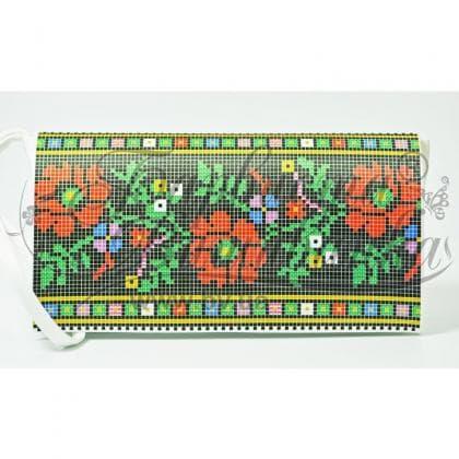 Клатч для вишивки бісером КЛ-123 Барвиста вишиванка