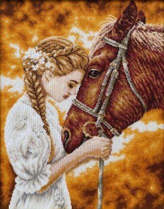 Дівчина з конем Т-1298 ВДВ