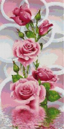 Рожеві троянди панно TS1300 Алмазна мозаїка IF