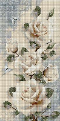 Білі троянди панно TS1301 Алмазна мозаїка IF