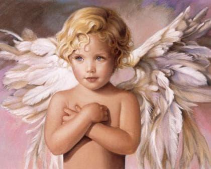 Блакитноокий ангел DM-153 Алмазна мозаїка