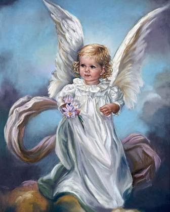 Ангел з квітами
