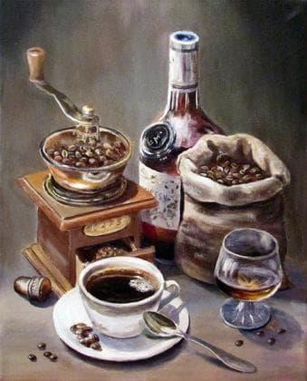 Кава з коньяком DM-164 Алмазна мозаїка