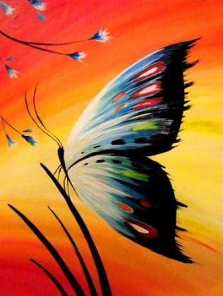 Метелик на заході сонця DM-183 Алмазна мозаїка