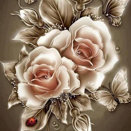 Карамельні троянди DM-185 Алмазна мозаїка