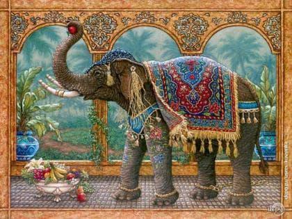 Індійський слон DM-188 Алмазна мозаїка