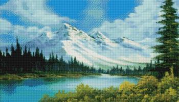 Засніжені Альпи SS805 Алмазна мозаїка IF