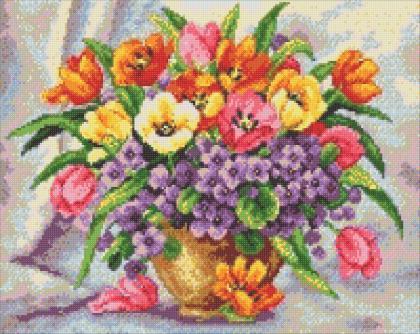 Яскраві тюльпани DM-200 Алмазна мозаїка