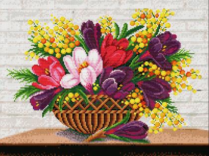 Весняний букетик DM-205 Алмазна мозаїка
