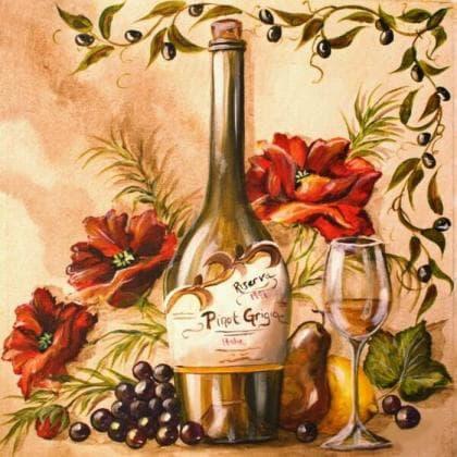 Французьке вино DM-219 Алмазна мозаїка