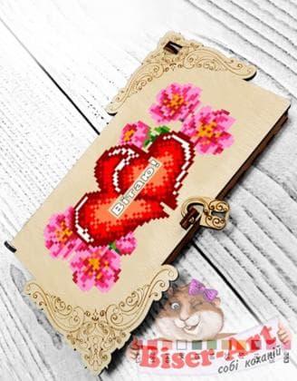Коробочка для грошей або прикрас Серця 22209 Biser-Art