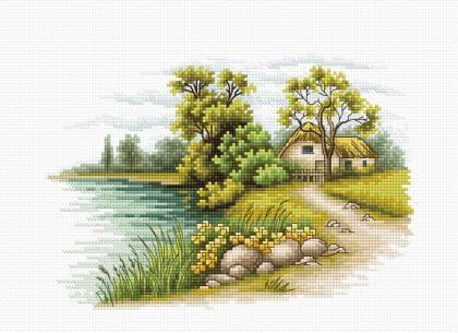 Пейзаж з озером В2283 Luca S