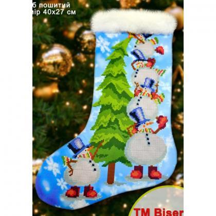 Новорічний чобіток 23008 Biser-Art