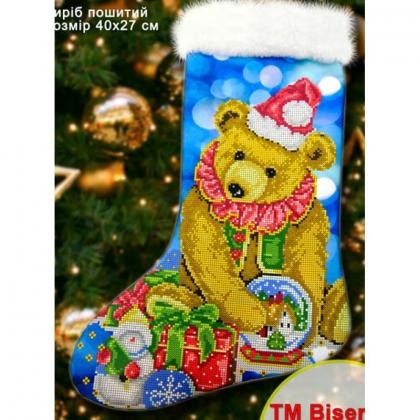 Новорічний чобіток 23010 Biser-Art