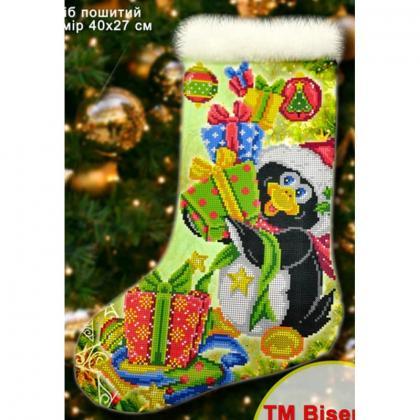 Новорічний чобіток 23011 Biser-Art