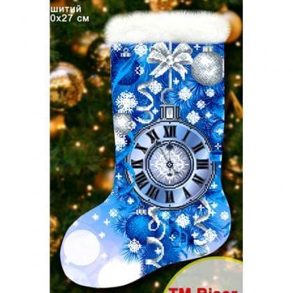 Новорічний чобіток 23013 Biser-Art
