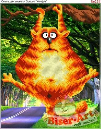 Кіт на дереві 234 Biser-Art