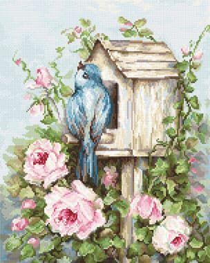 Пташиний будинок і троянди