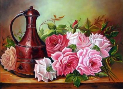 Садові троянди DM-237 Алмазна мозаїка